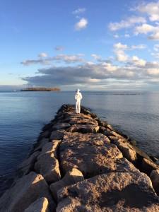Leah at ocean