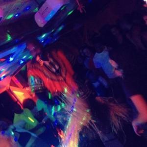 DJ Trumaster on stilts.  Nuf said.
